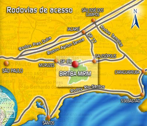 Resultado de imagem para biritiba mirim mapa